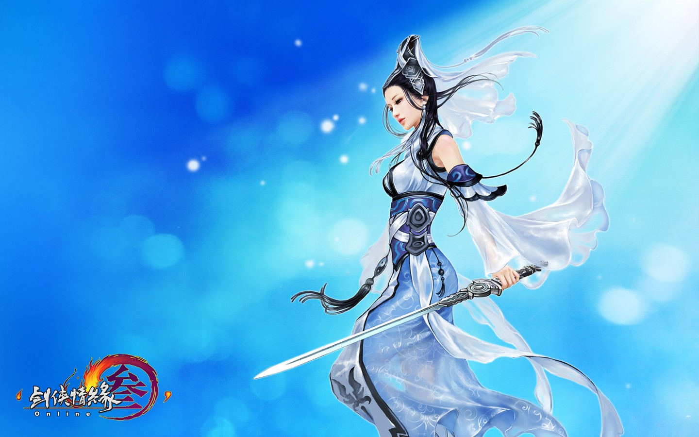 D martial arts online game wallpaper of JX 30242