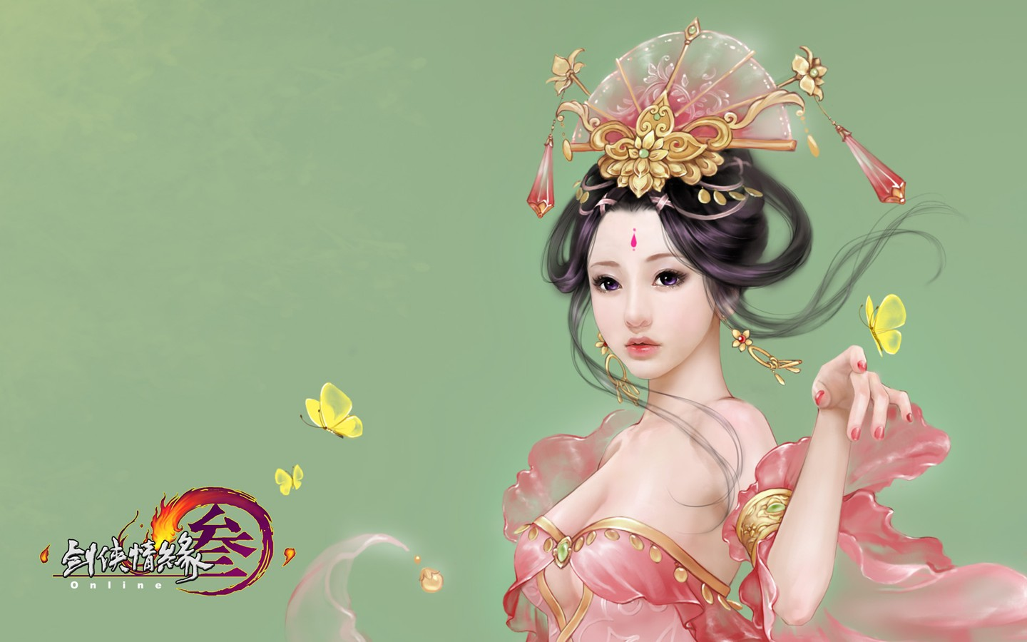 D martial arts online game wallpaper of JX 30244