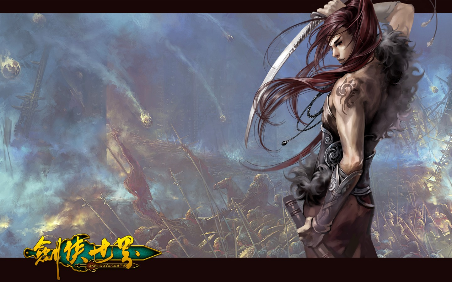 D of the swordsman in the world martial arts online game wallpaper 30247