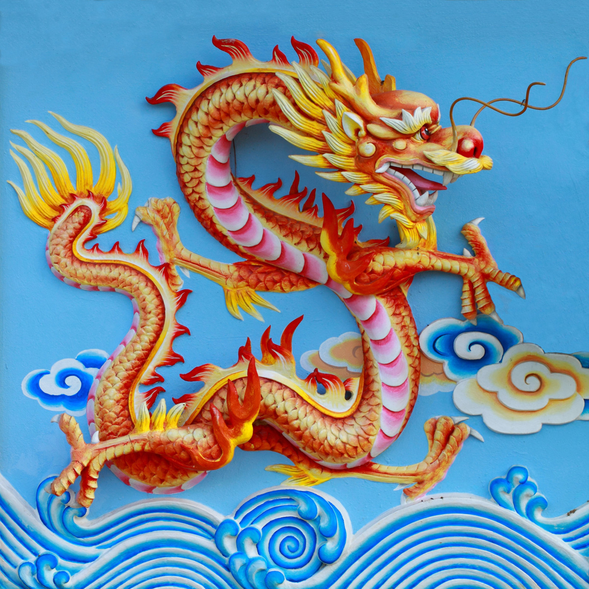 Chinese dragon sculpture 29172