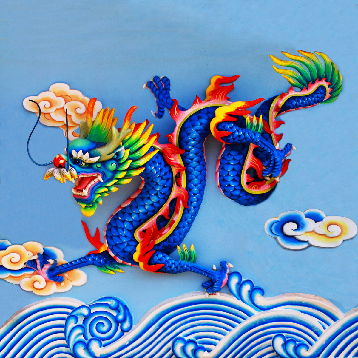 Chinese dragon sculpture 29254