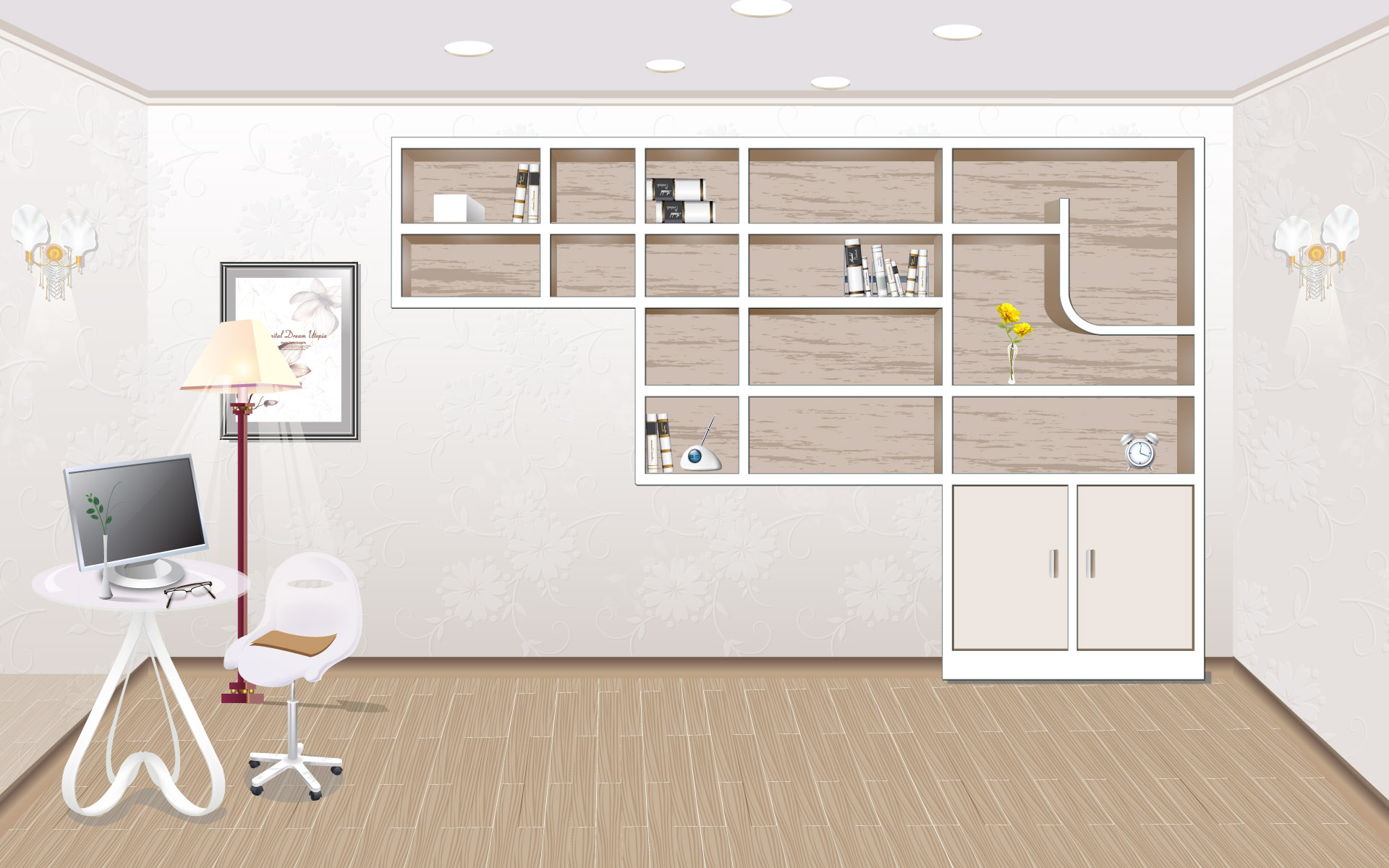 Vector Fashion Home 1237 Home Wallpapers Hand