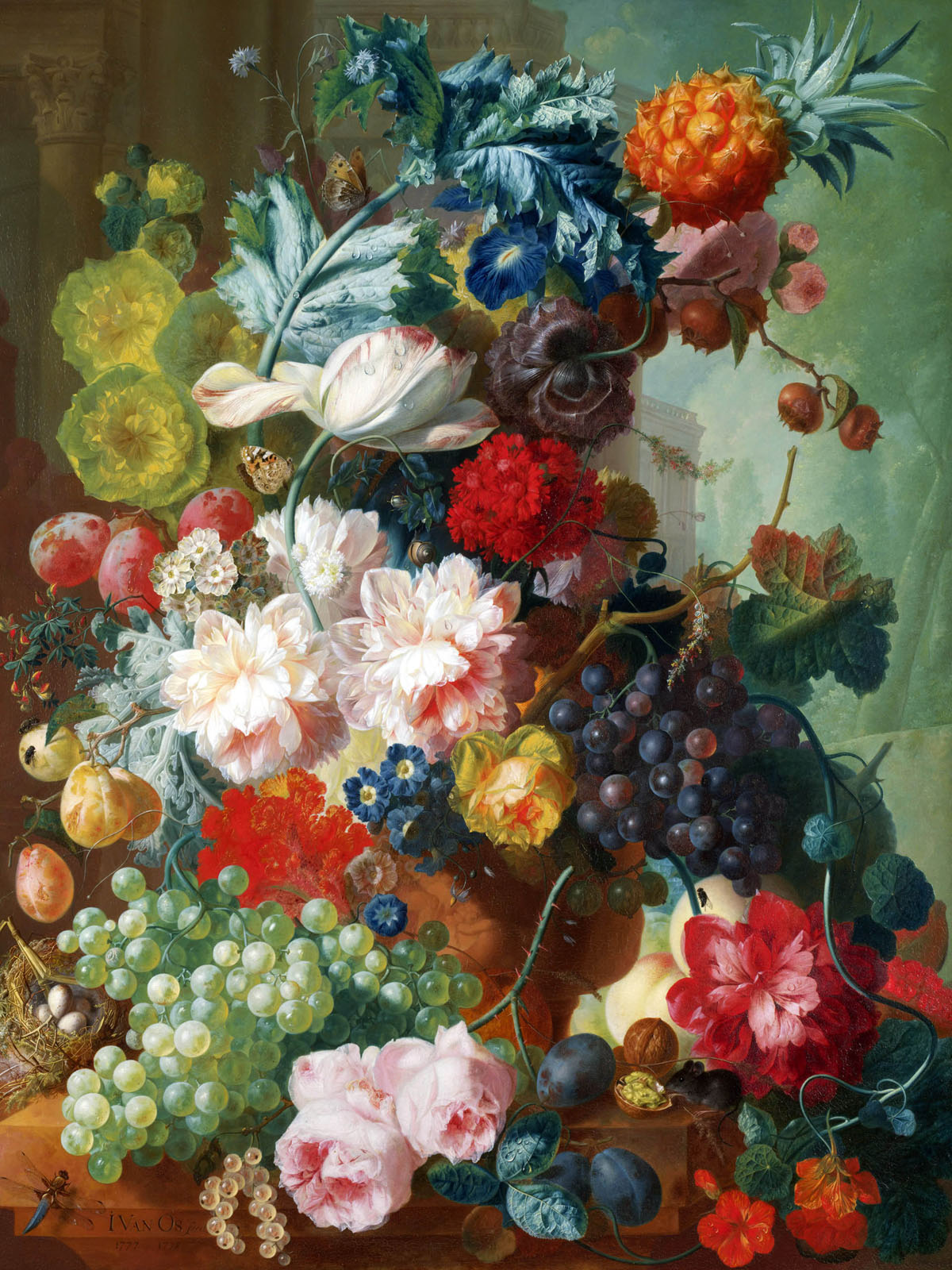 Appreciate the hand-painted flowers 1413