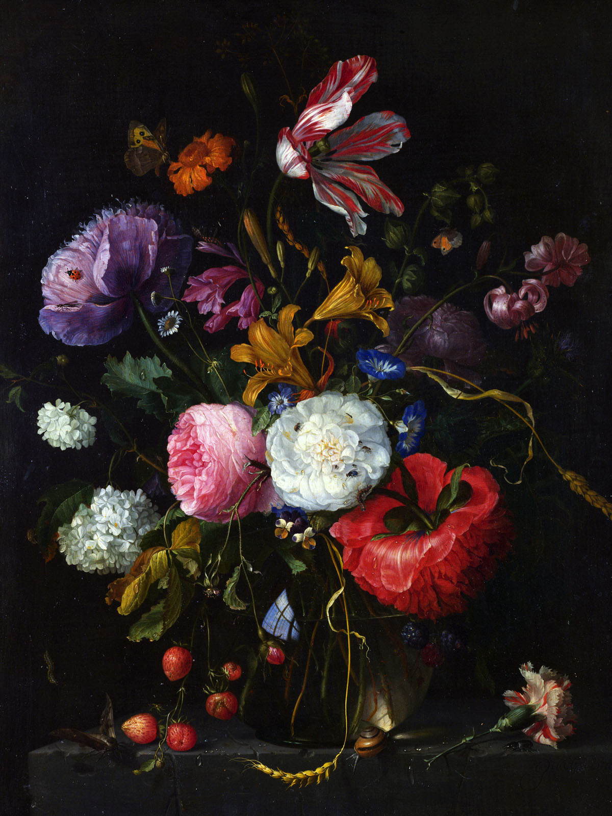 Appreciate the hand-painted flowers 1585