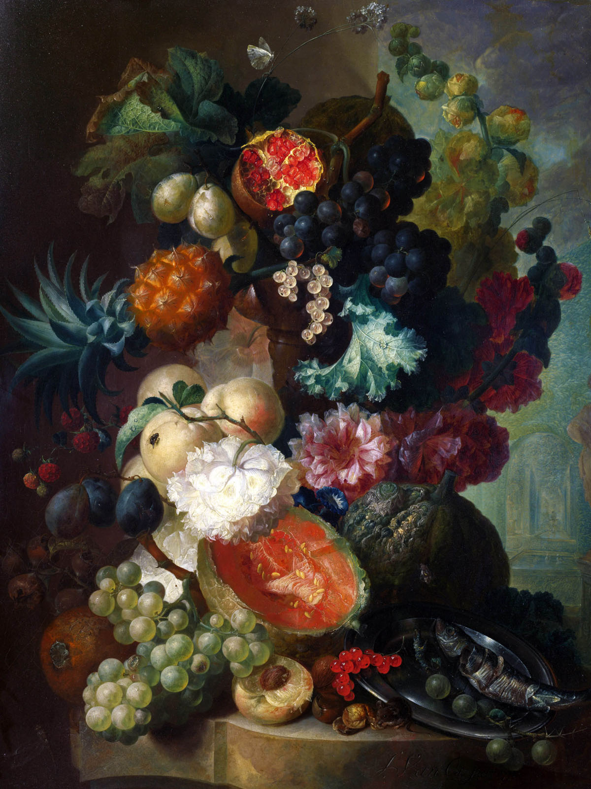 Appreciate the hand-painted flowers 1756