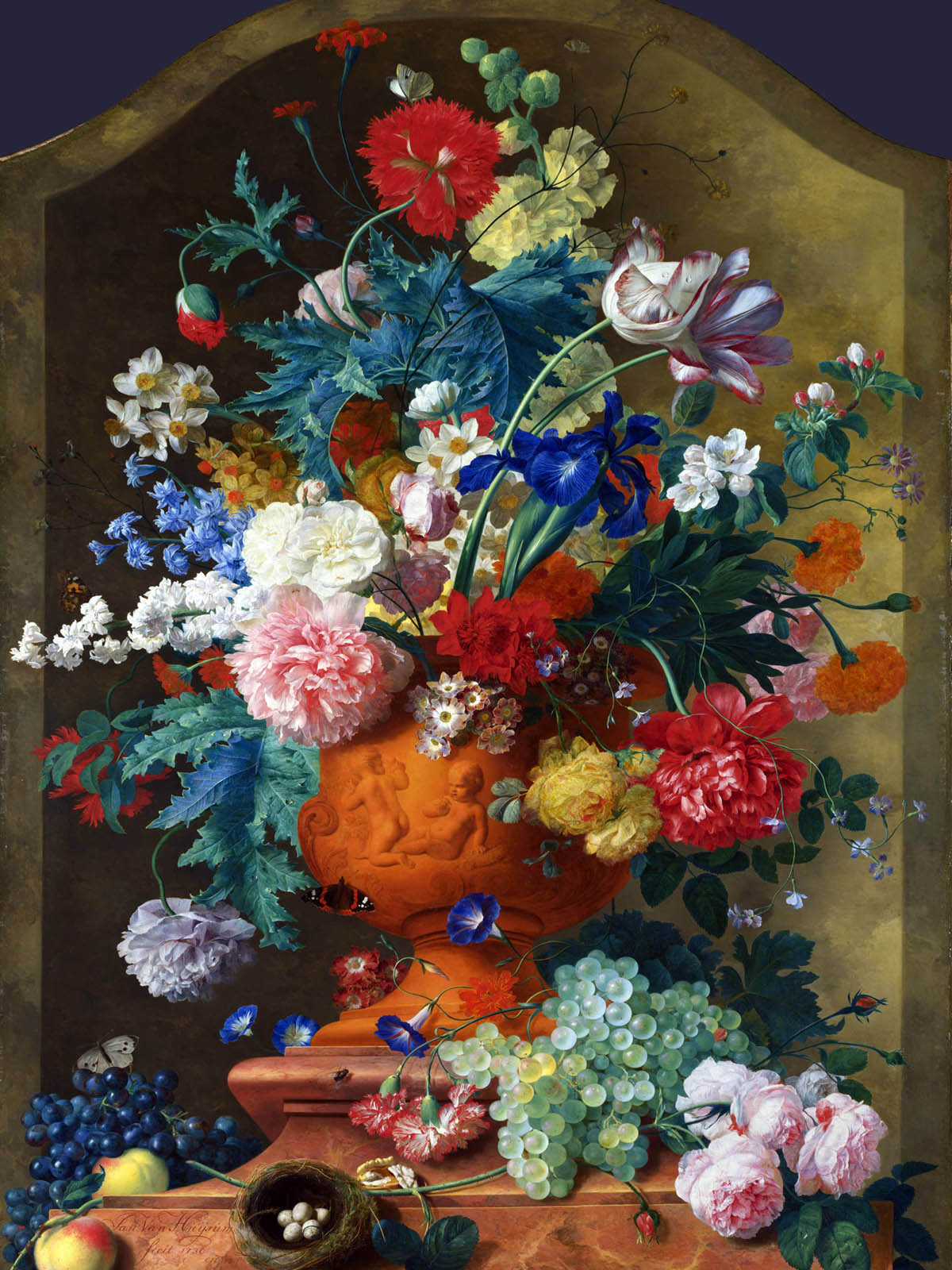 Appreciate the hand-painted flowers 194