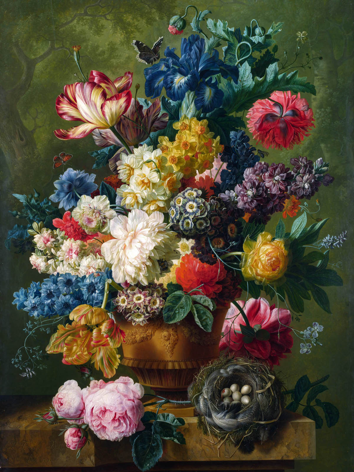 Appreciate the hand-painted flowers 369