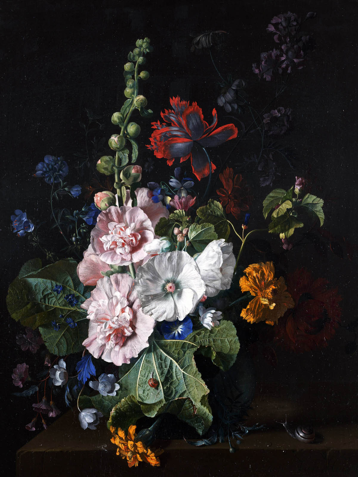 Appreciate the hand-painted flowers 893