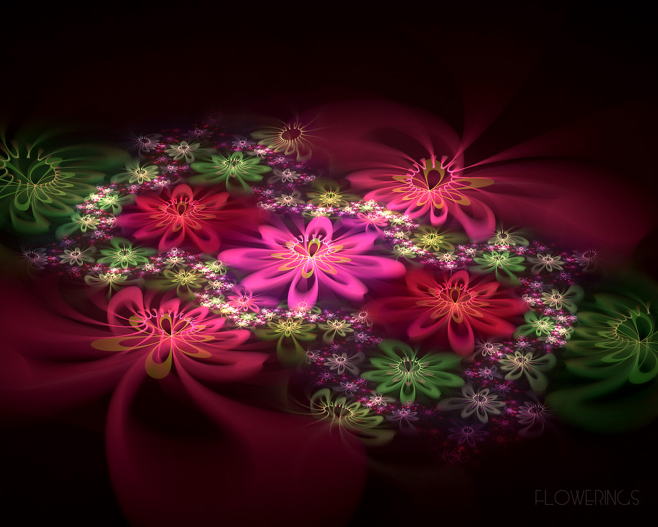 D fantasy abstract flowers 2265