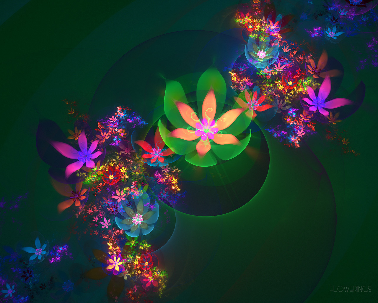 D fantasy abstract flowers 2432