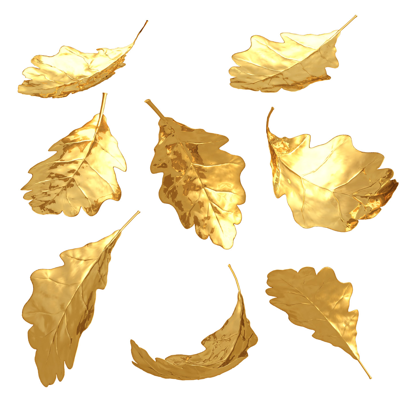 D high-definition picture golden leaves 24340