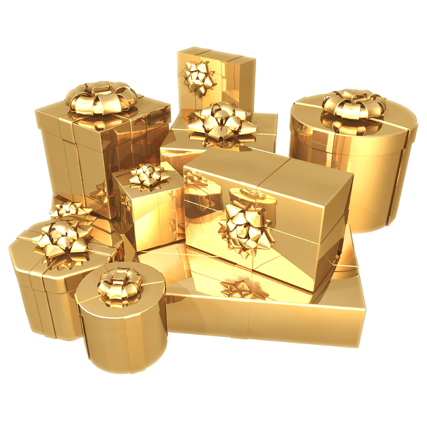 D gold gifts and gift picture 24362