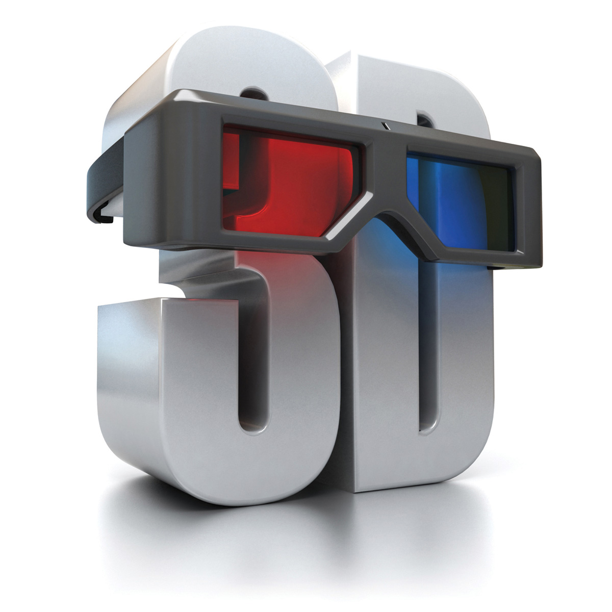 D-dimensional font and red and blue glasses 29186