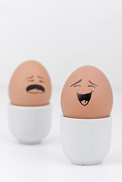 funny face eggs