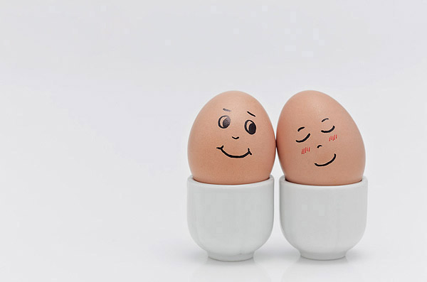 Funny face type cute eggs 11674