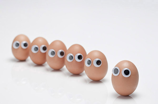 Funny face type cute eggs 11760
