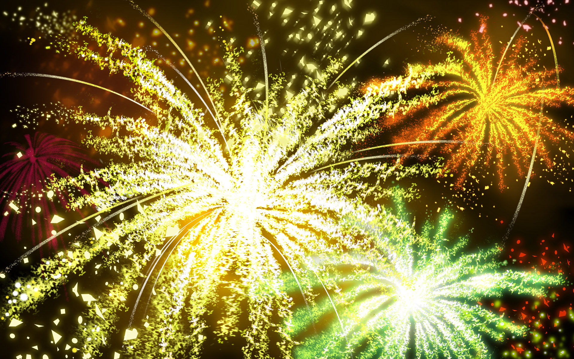 Colorful fireworks 1249