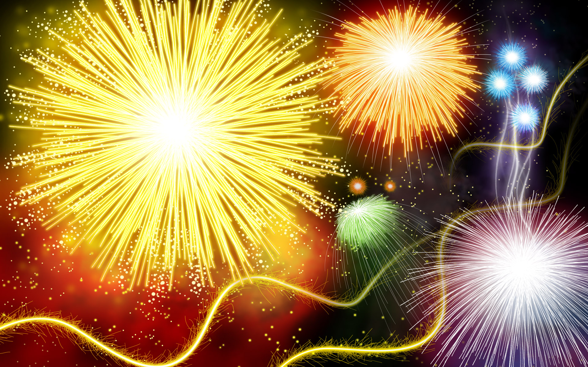 Colorful fireworks 1422