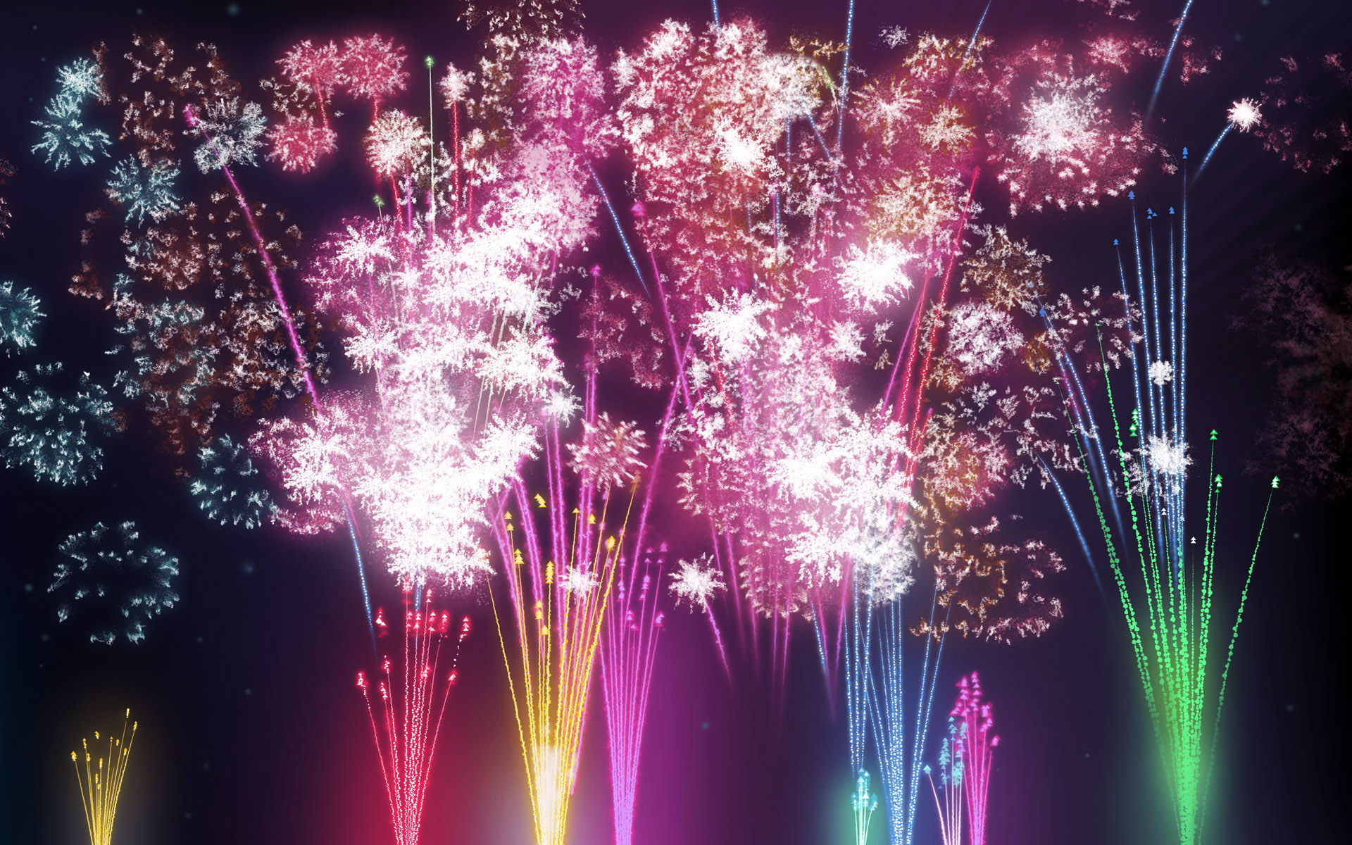 Colorful fireworks 203