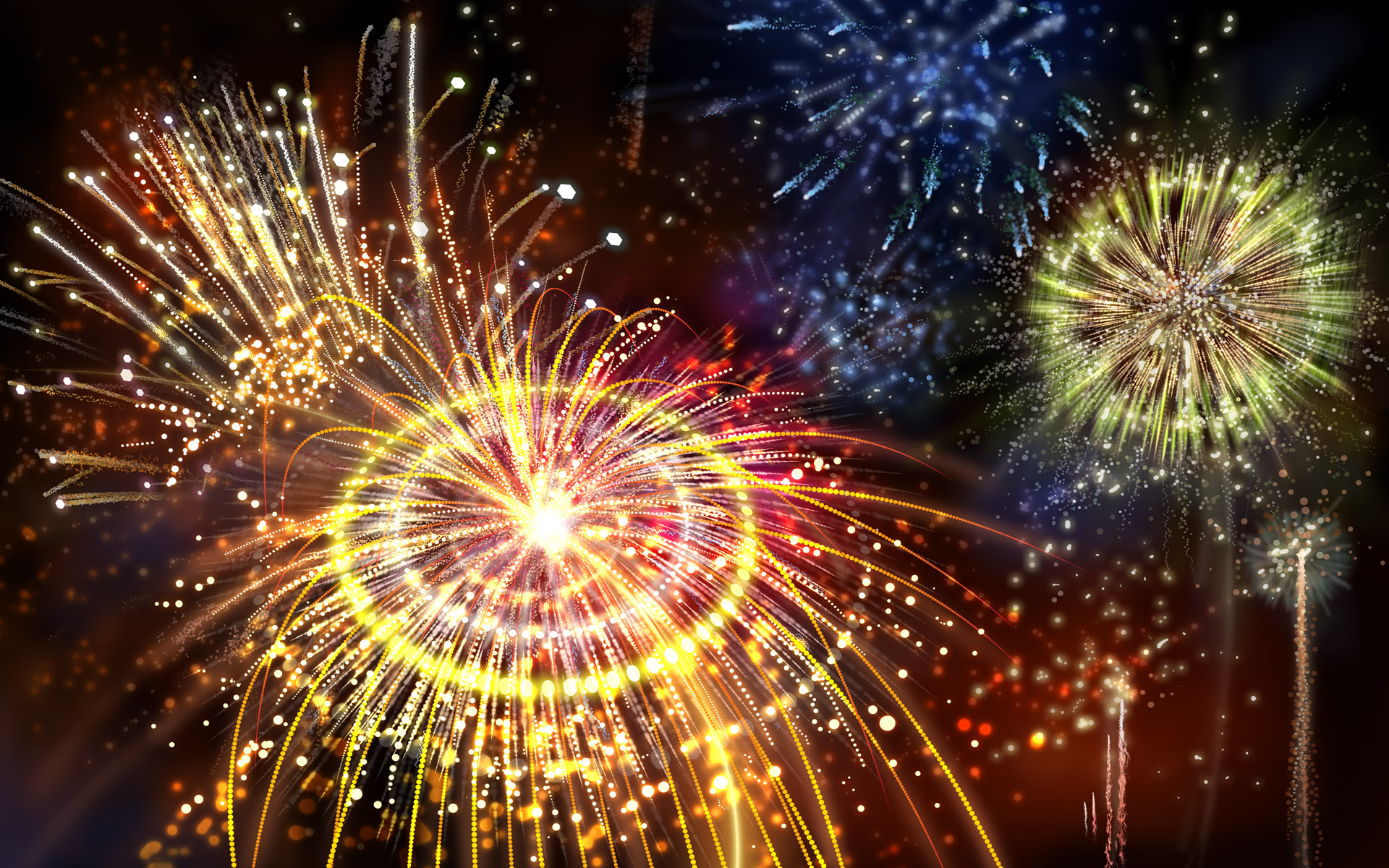 Colorful fireworks 2104