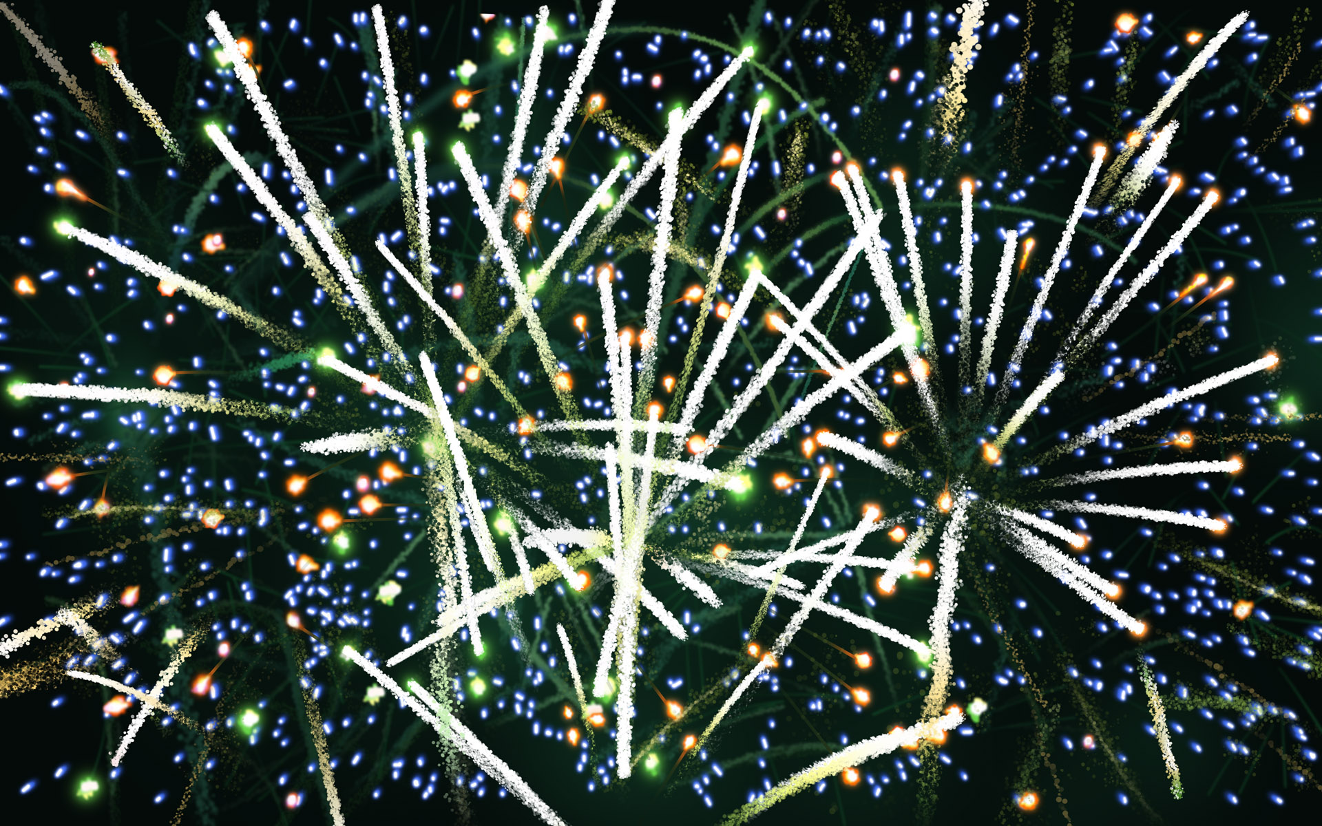 Colorful fireworks 3409