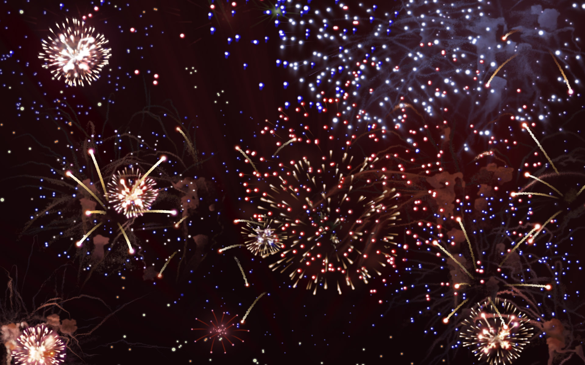 Colorful fireworks 728