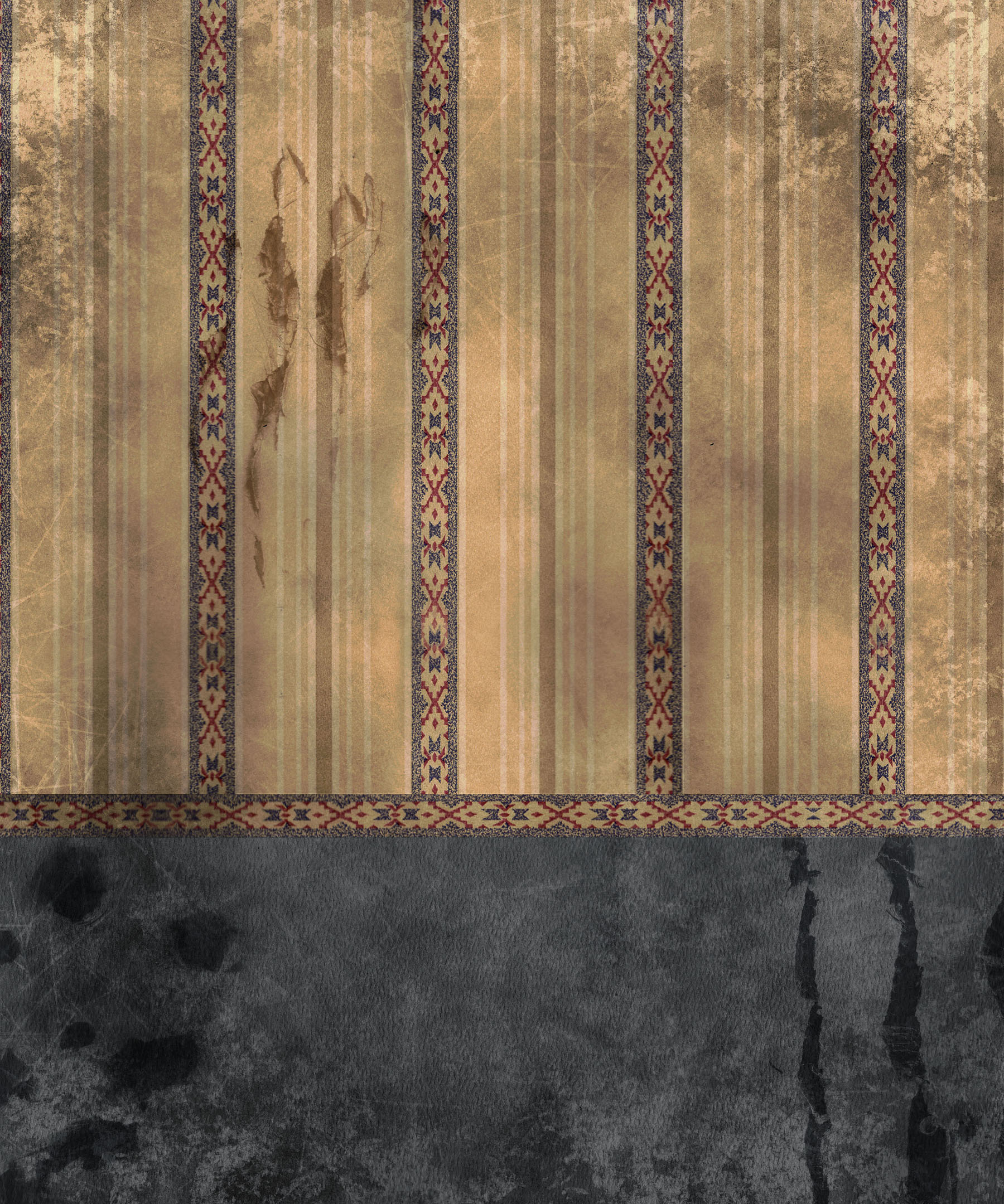 Old European-style wall wallpaper 11322