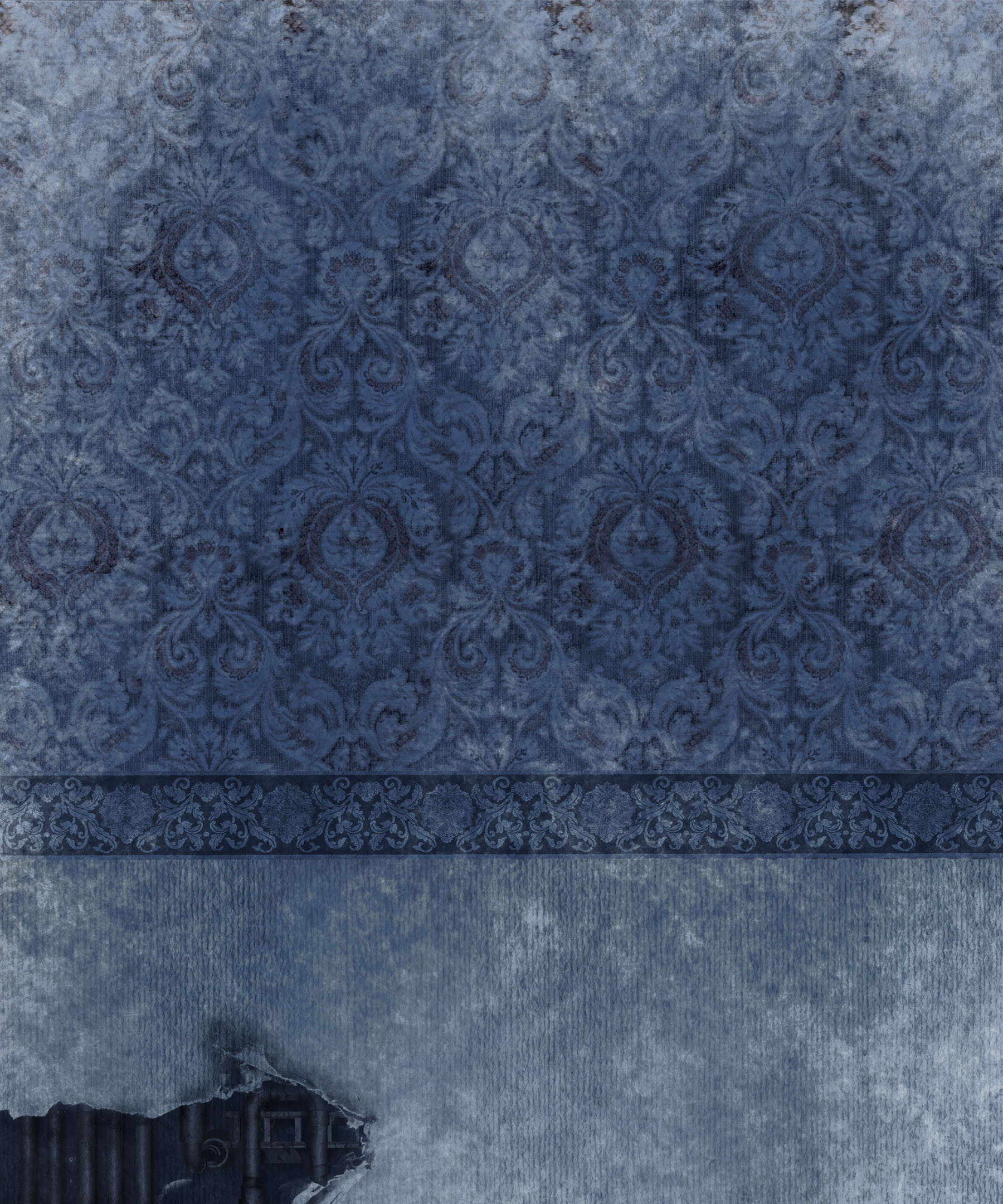 Old European-style wall wallpaper 11413