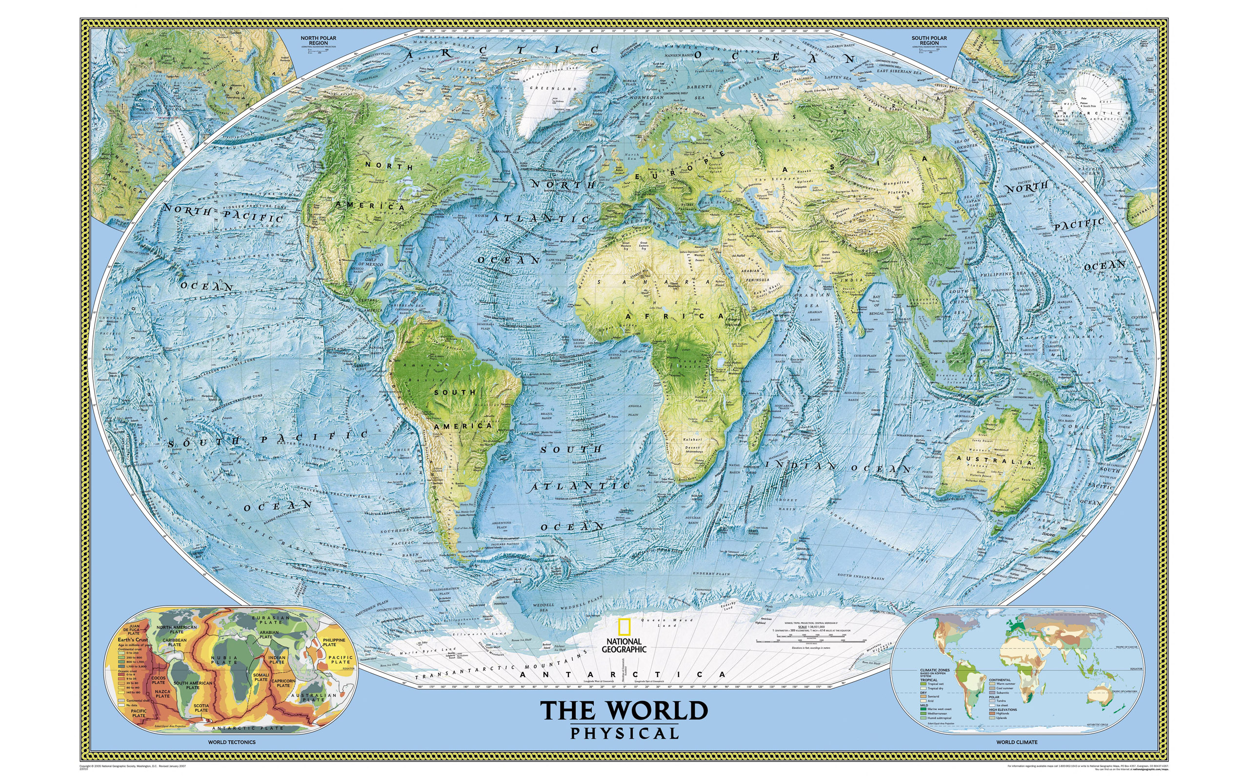 Large world map 15072 - Earth Star - Others