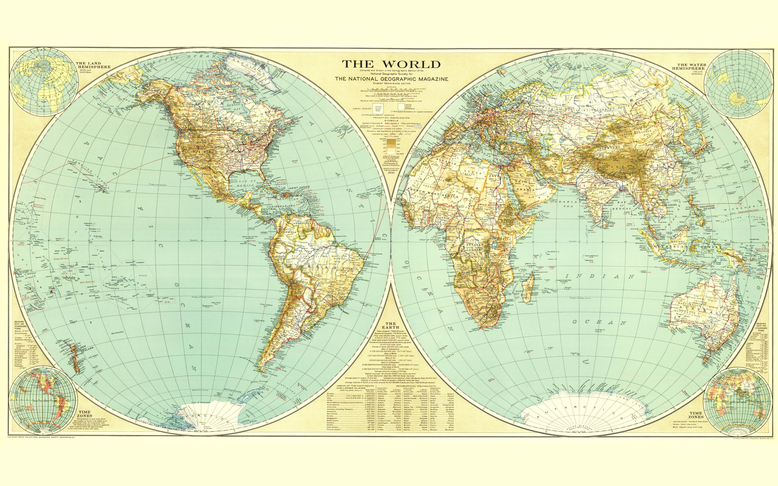 Large world map 15135   Earth Star   Others