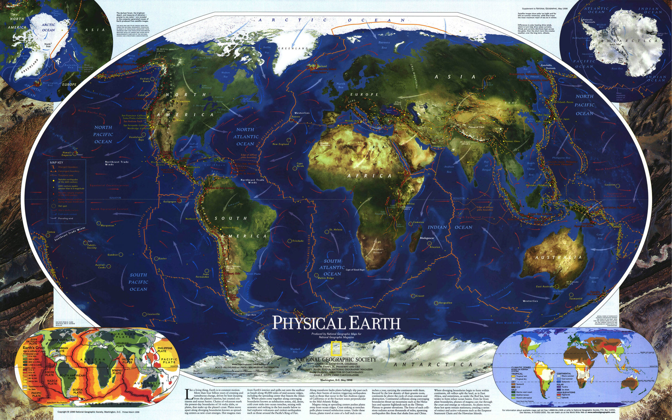 Large World Map 15323 Earth Star Others