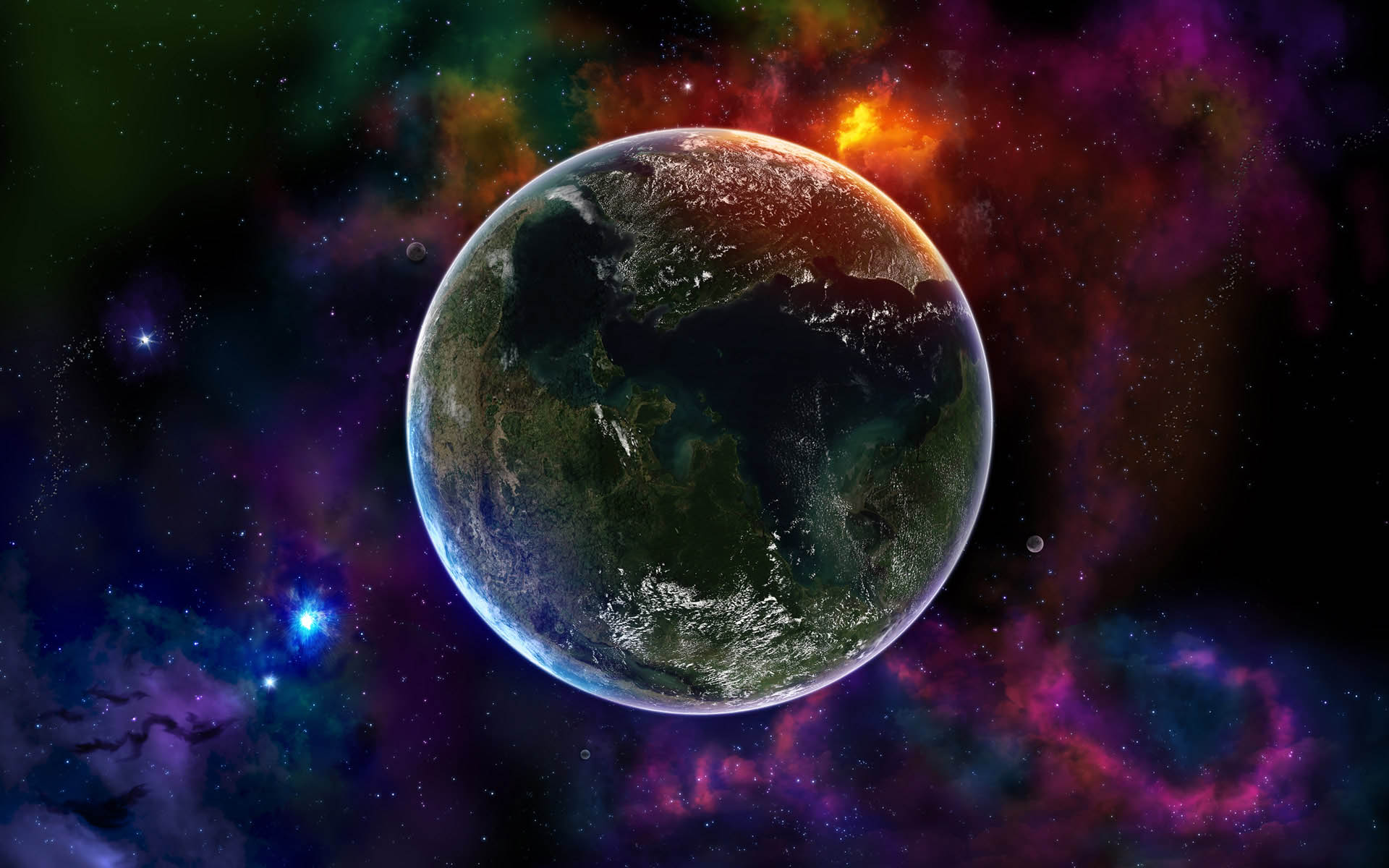 Star Earth Wallpaper 3412