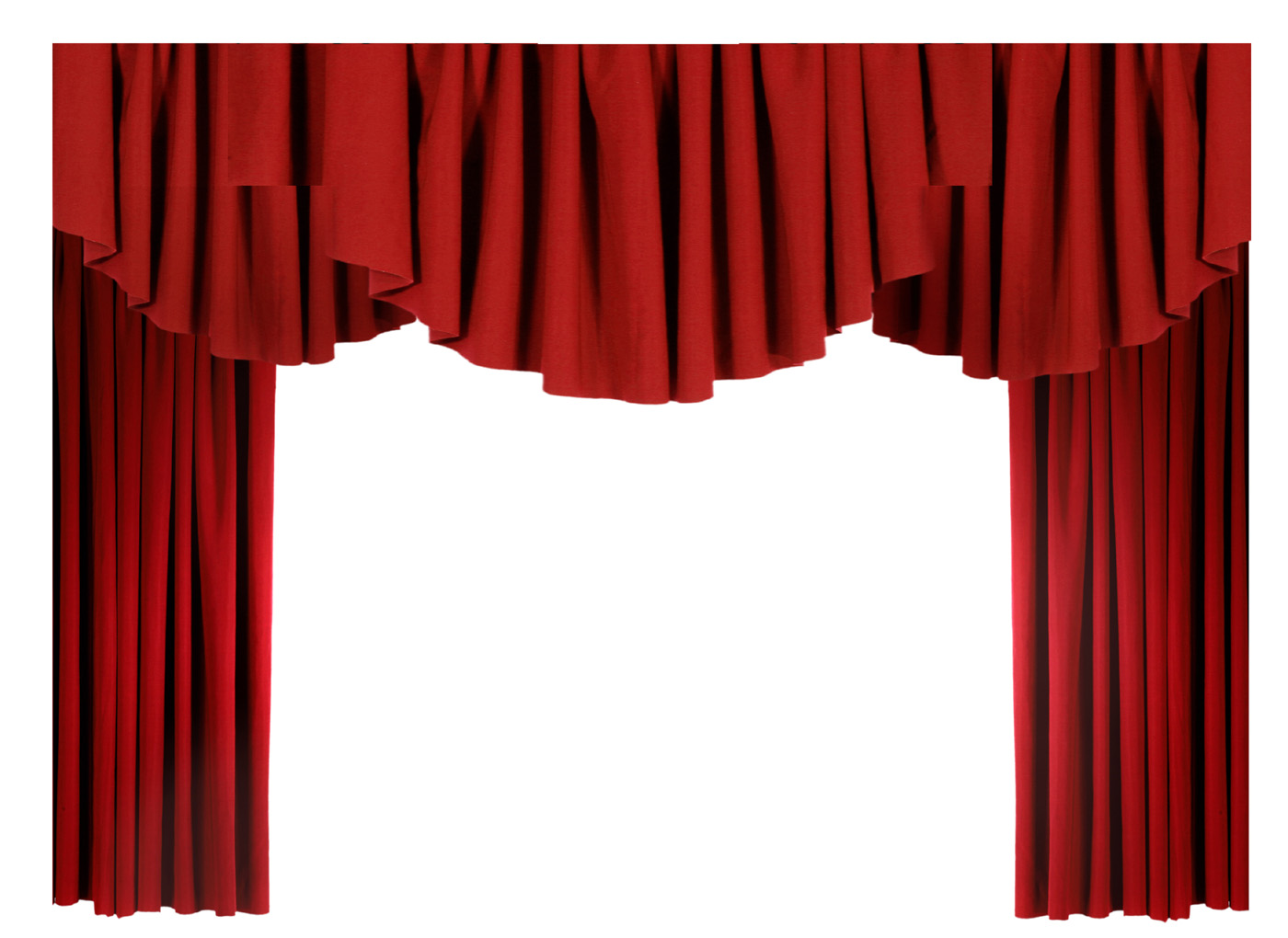 Red curtain curtain 10865