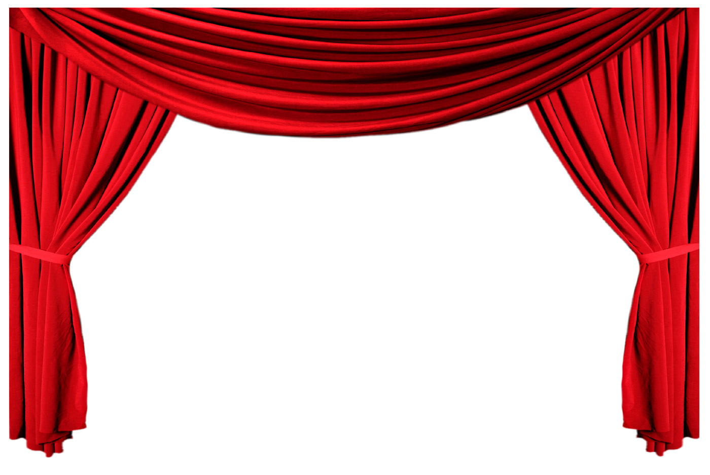 Red curtain curtain 10962