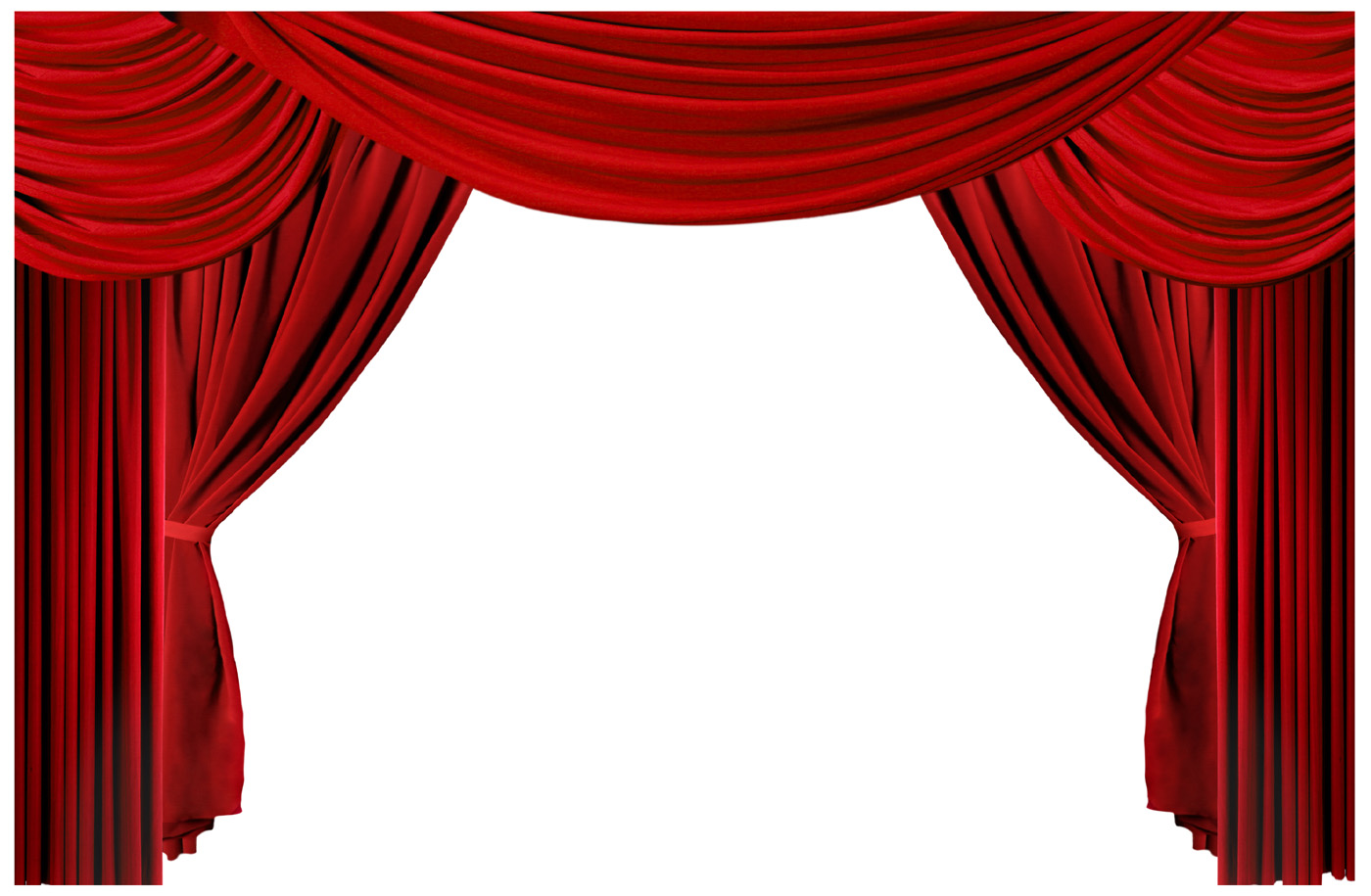 Red curtain curtain 11054