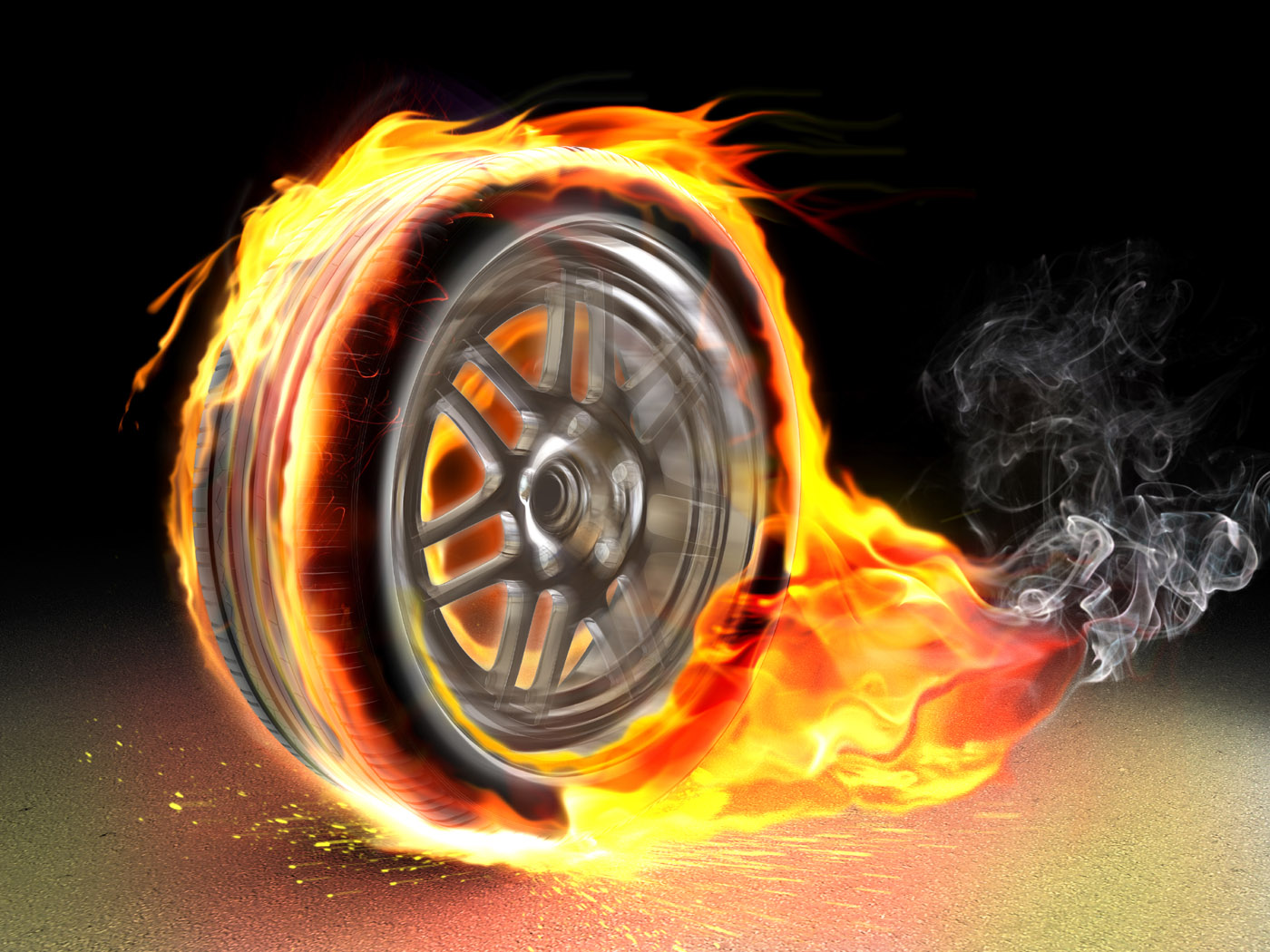 Mei burning tires 10057