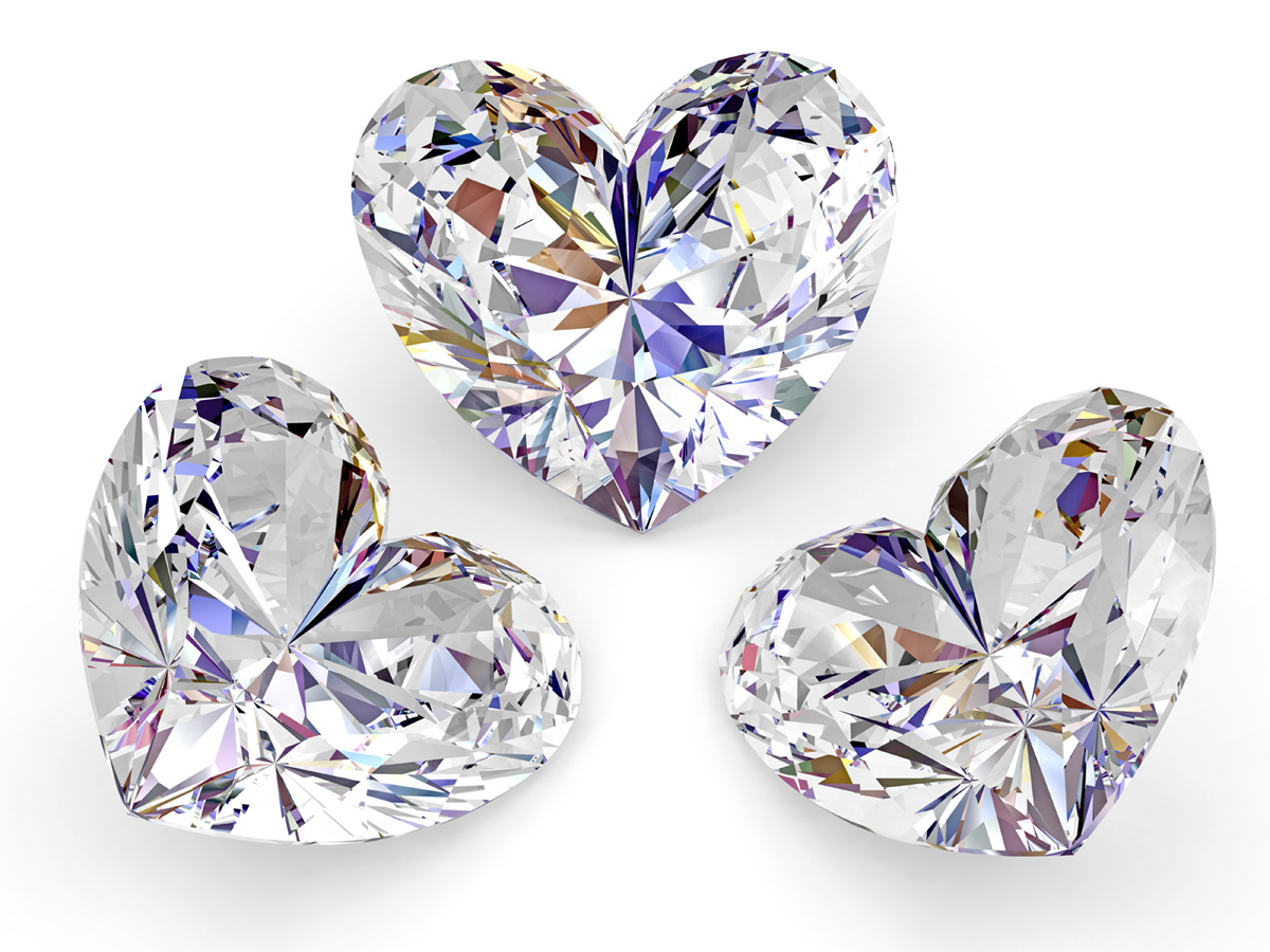 Dazzling heart-shaped diamond 17736