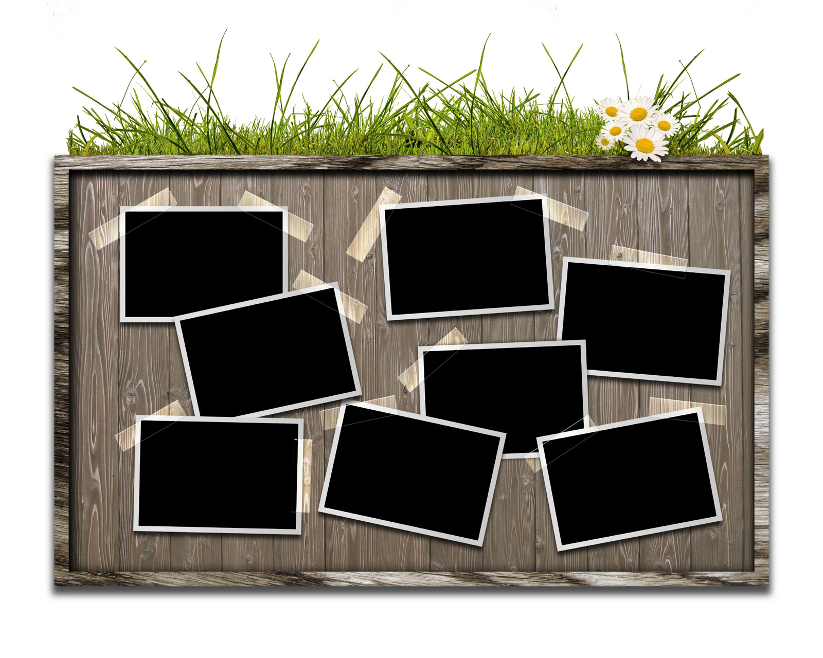 Wooden photo wall 29263