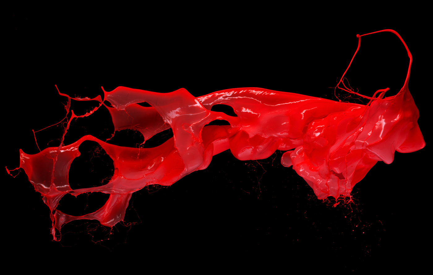 Splash of red liquid dynamic 8773