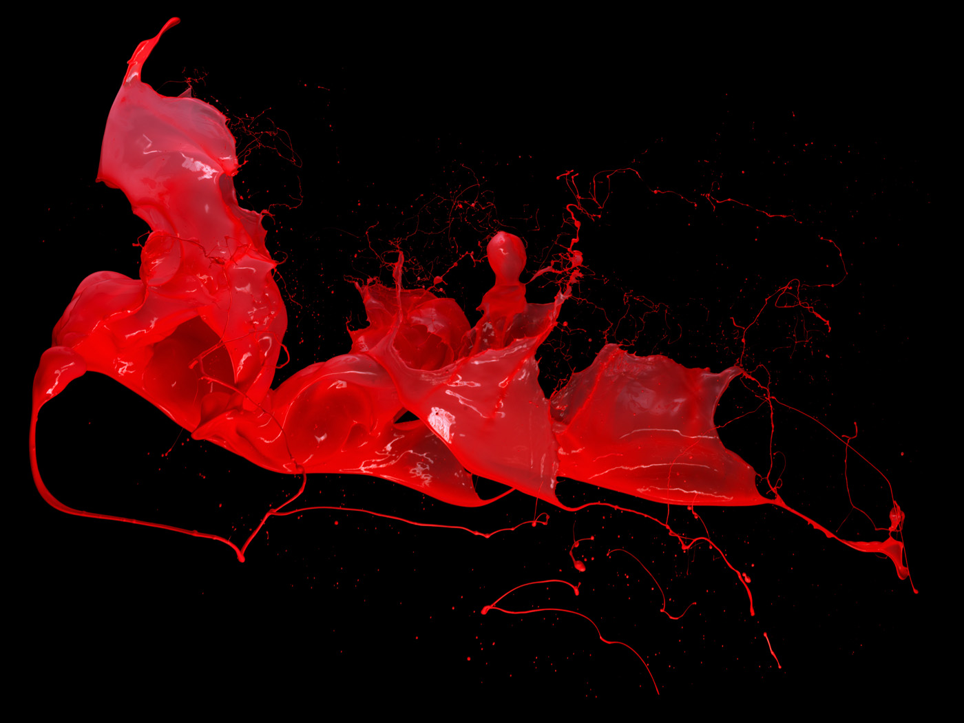 Splash of red liquid dynamic 9207