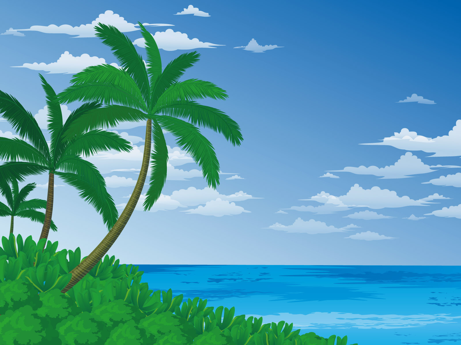 Cartoon landscape wallpaper 21320