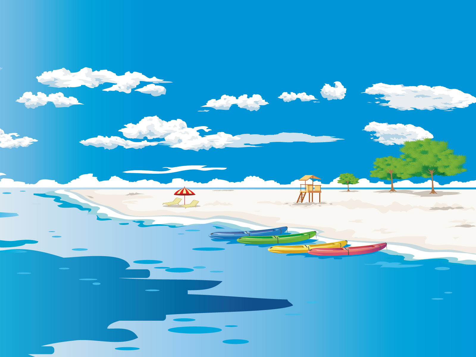 Cartoon landscape wallpaper 21456