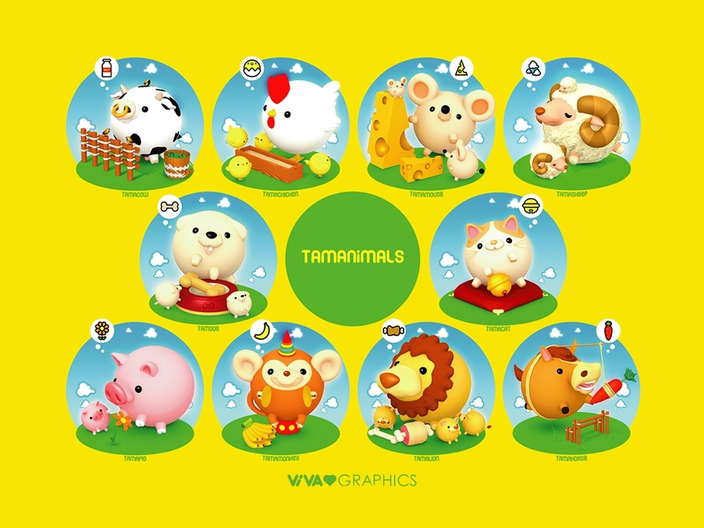 Cartoon Vector Wallpaper 23022