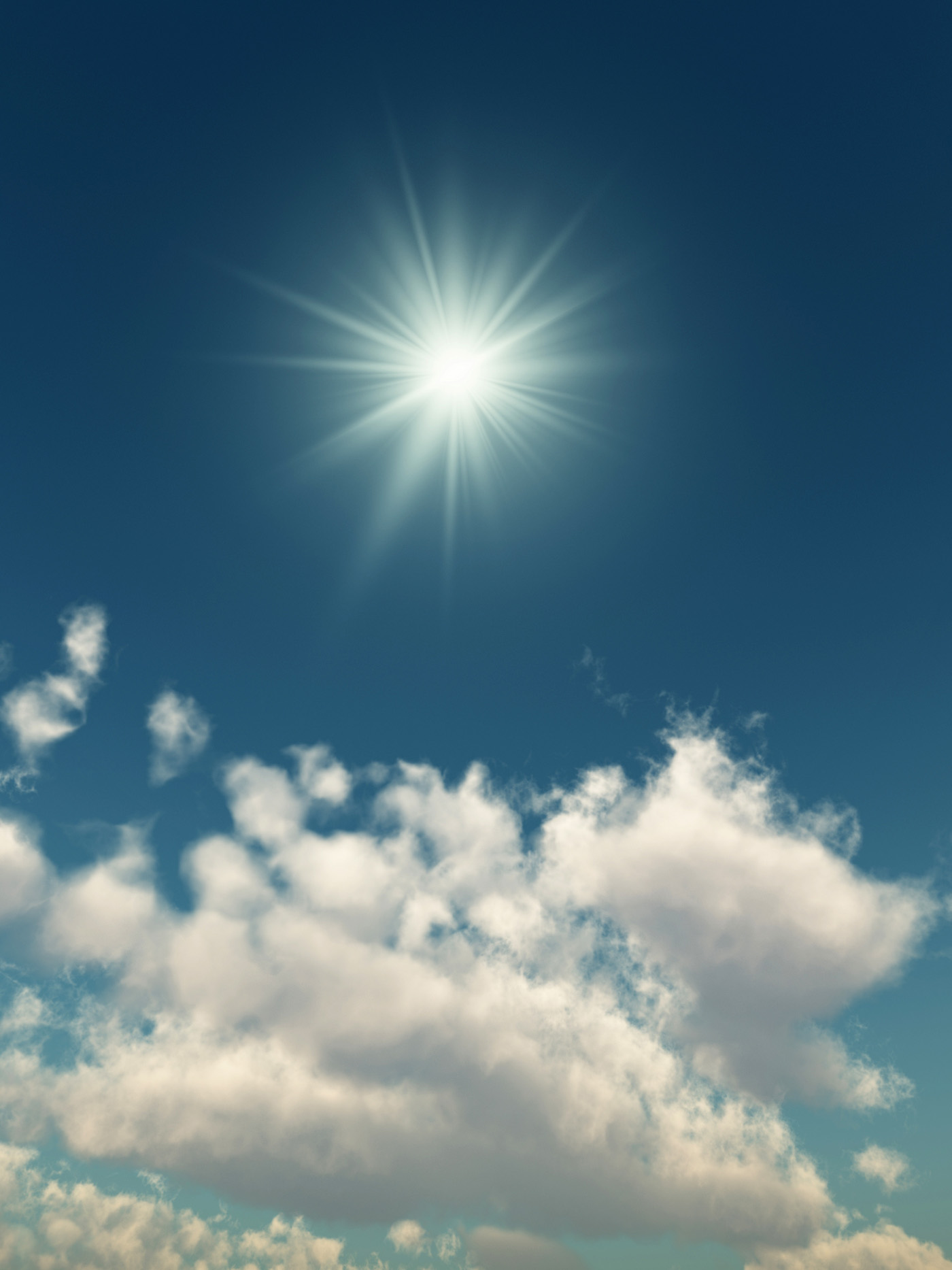 Blue sky and white clouds high definition picture 16287