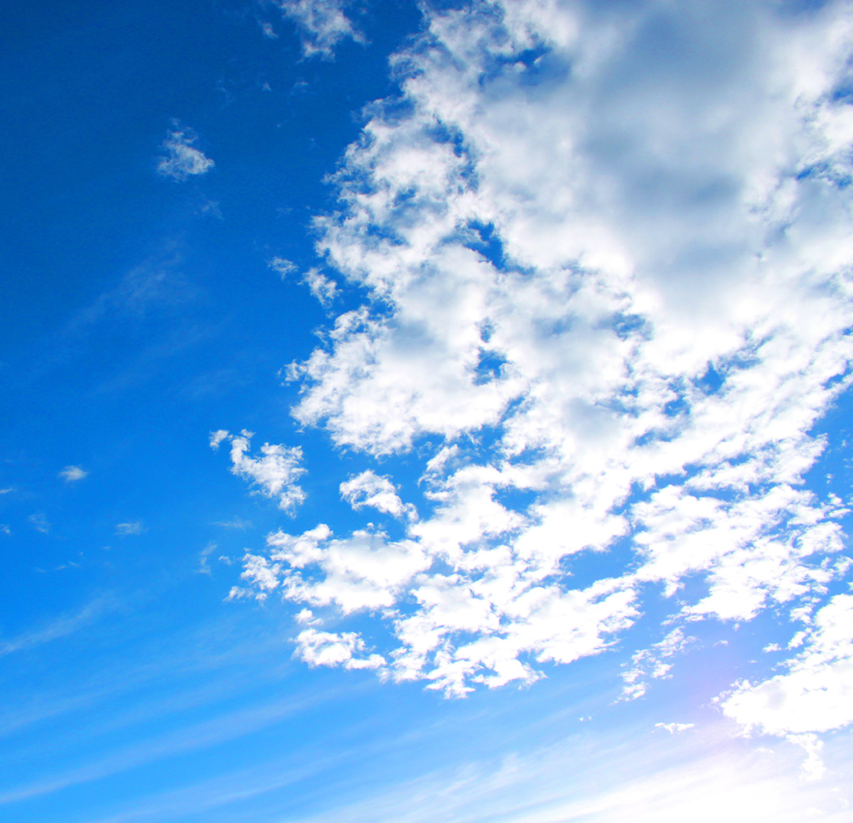 Blue sky and white clouds high definition picture 16405