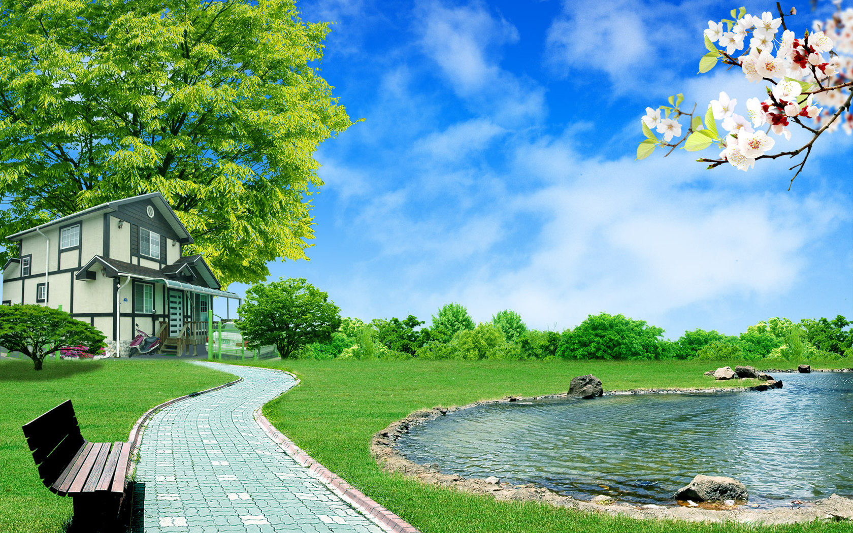Summer Landscape Wallpaper 22530