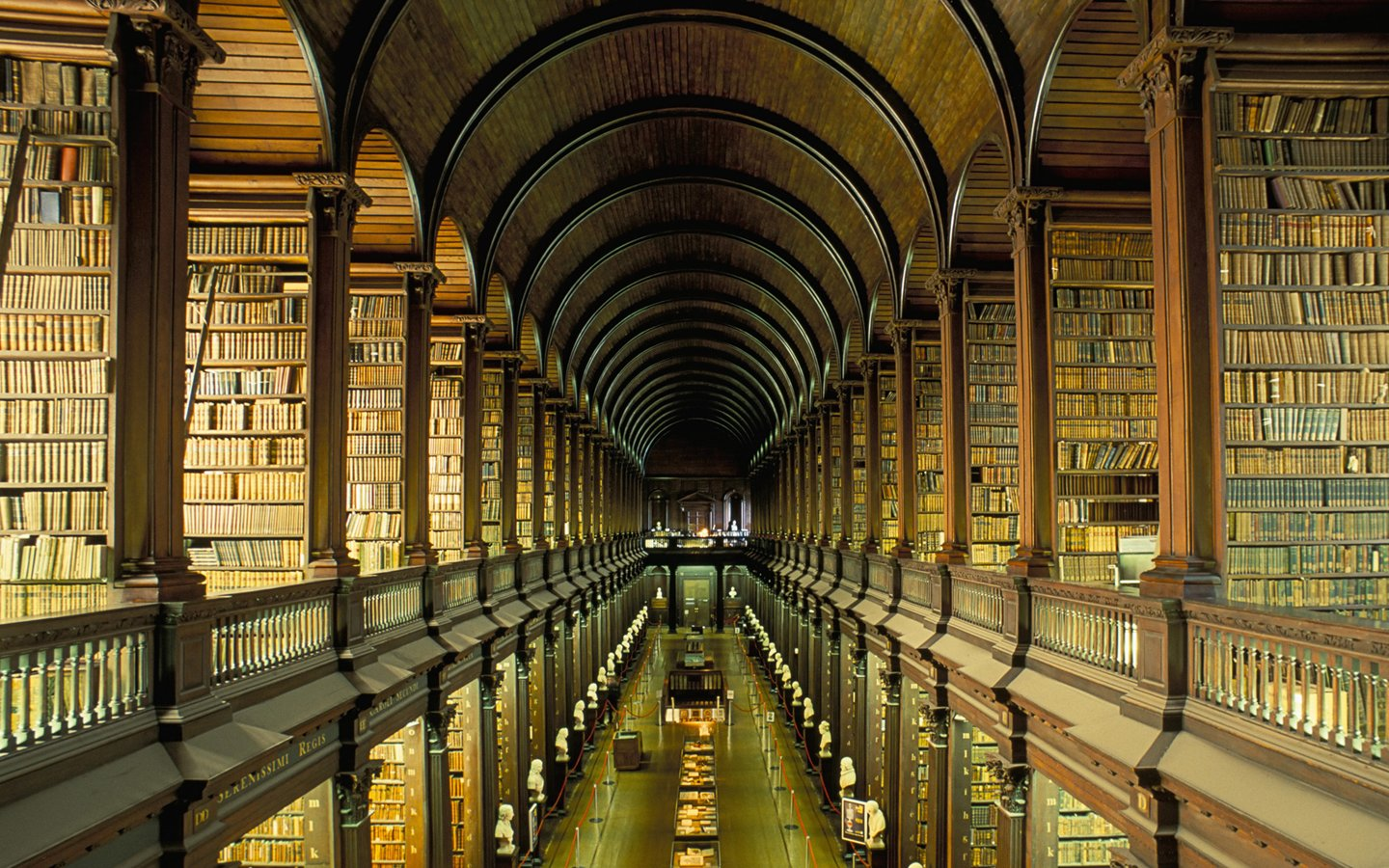 Trinity College Dublin, the old library 14885