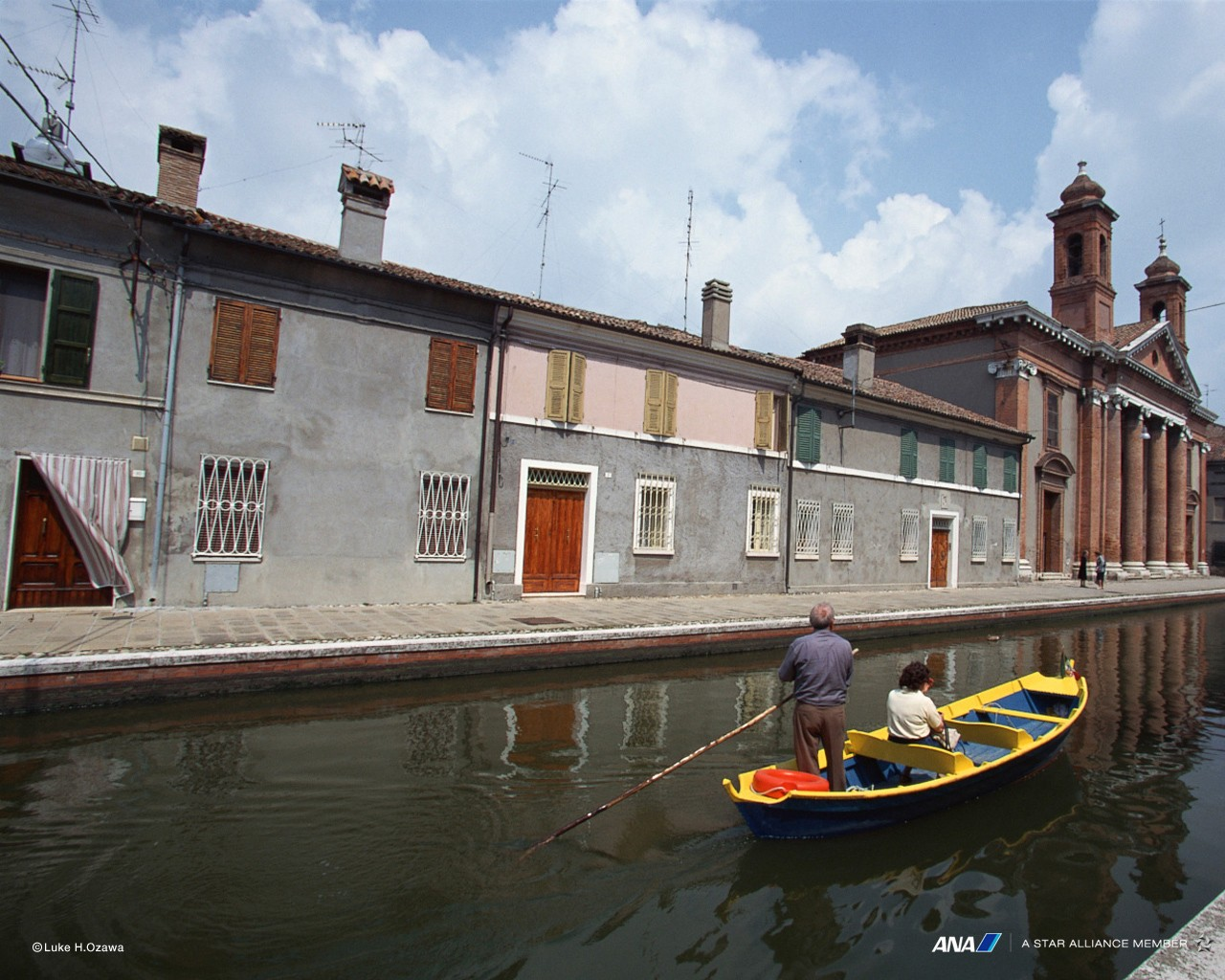 Boating town in Europe 30180