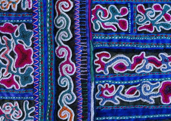 In traditional clothing textures 23575