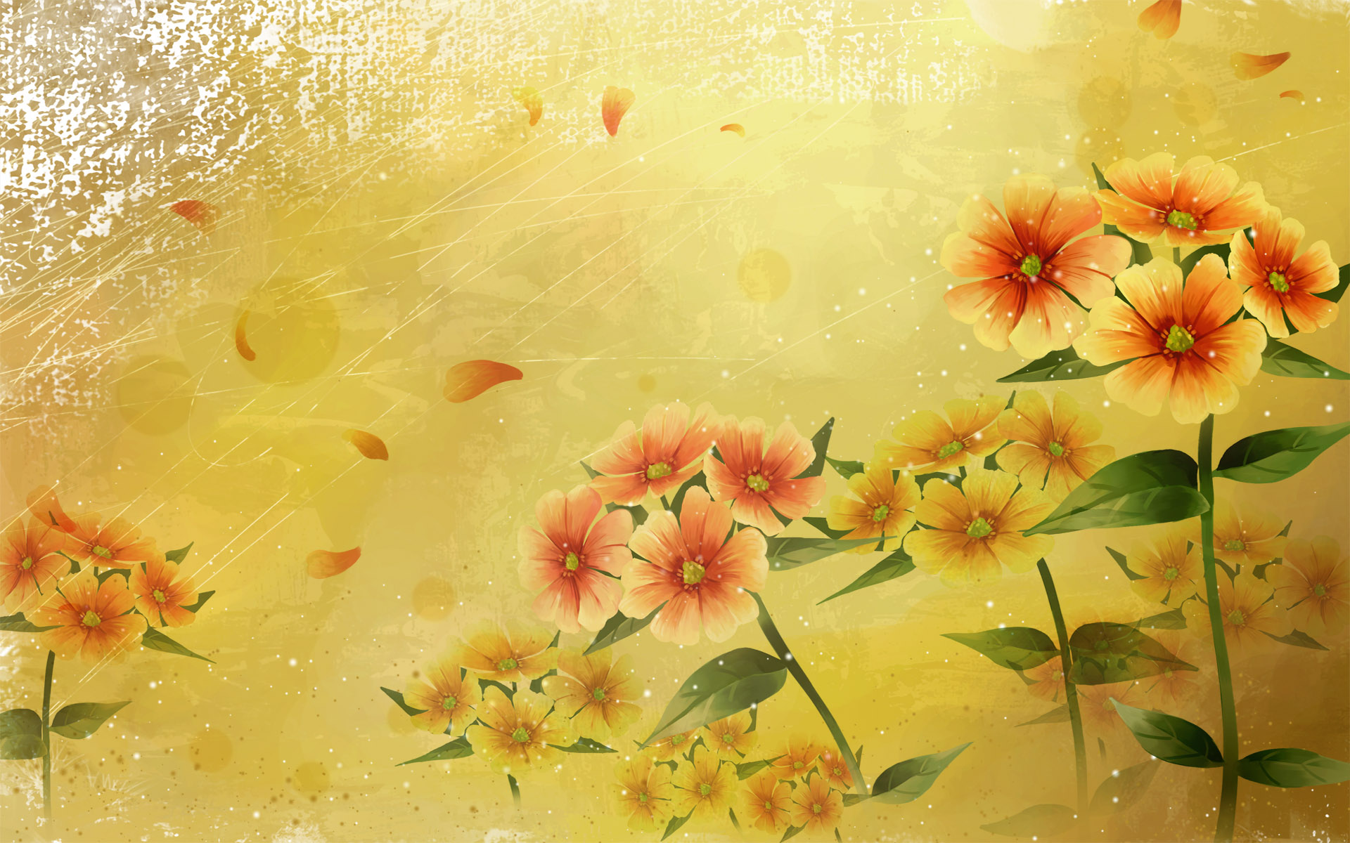 Synthesis Of High Definition Bright Flowers 13522 Synthetic